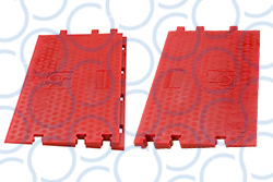 Cable Guard Red Floor Ramp Wheelchair pair WEB
