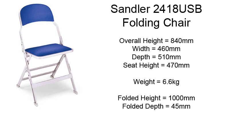 IPS Sandler Folding Chair Hire Details