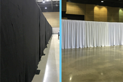 Black White Wentex Pipe Drape Wall