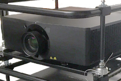 Christie Laser Projector in Fly Frame