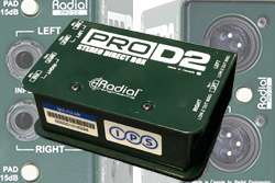 Radial Stereo DI Boxes