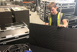 Rhys inspecting an LED Panel
